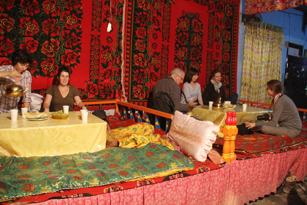 Dinner at a Uyghur family courtyard in Grape Valley - Journey from the West, 2014/10