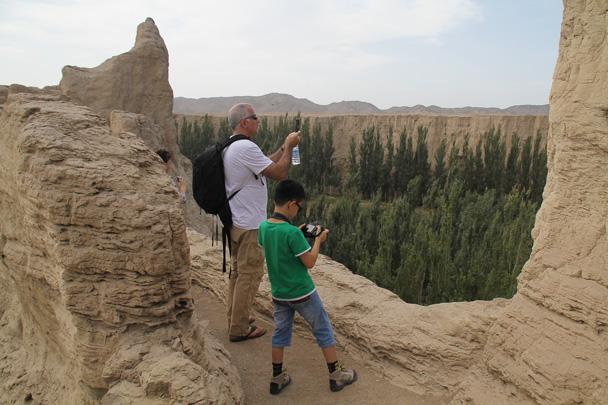Taking some photos of the river that surrounds the ruins - Journey from the West, 2014/10