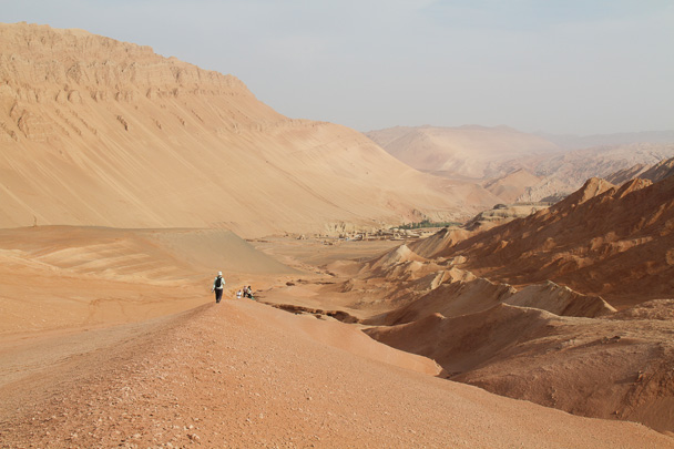 The Flaming Mountains, named for their fiery red colour, and fiery summer heat - Journey from the West, 2014/10
