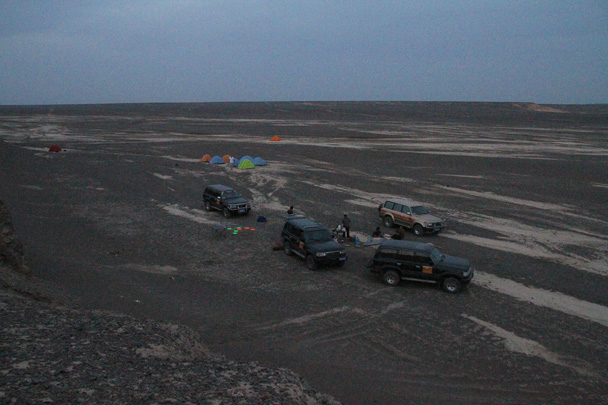 Our campsite was in the middle of a rocky desert - Journey from the West, 2014/10
