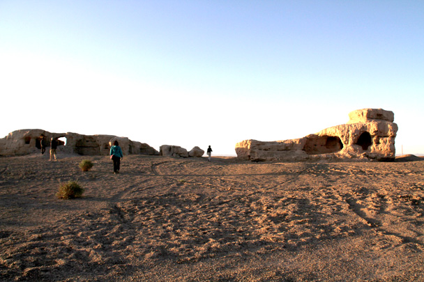 Hikers exploring the remains of a fortress - Journey from the West, 2014/10
