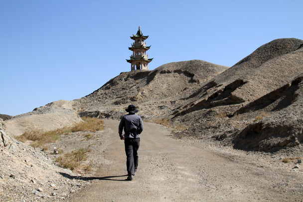 Near the reservoir were two towers - Journey from the West, 2014/10