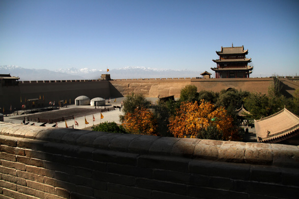 The Jiayuguan Fortress marks the western end of the Ming Dynasty Great Wall - Journey from the West, 2014/10
