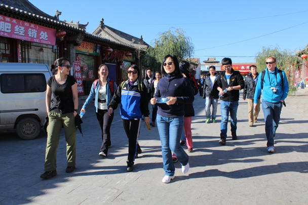 Starting the stroll through the streets of Nuanquanzhen - Yu County overnighter for Audi China, 2014/10