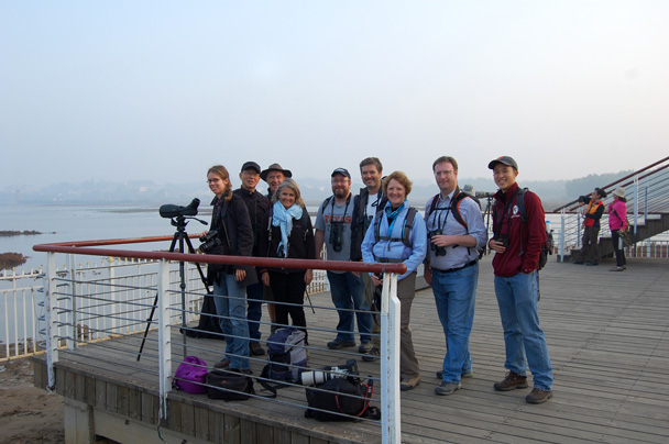 Group photo on an observation platform - Beidaihe Birding Trip, 2014/10