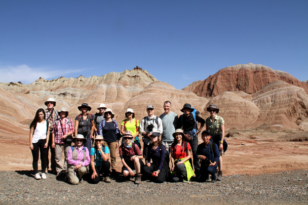 The hiking team, ready to explore - Zhangye Danxia Landform, Gansu Province, 2014/10
