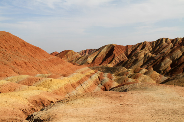 Beautiful light for photography - Zhangye Danxia Landform, Gansu Province, 2014/10