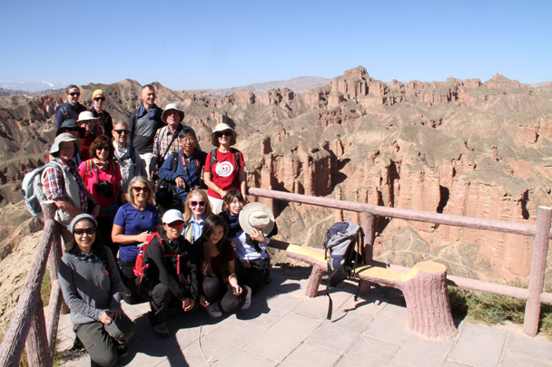 Squeezed together for a group photo - Zhangye Danxia Landform, Gansu Province, 2014/10