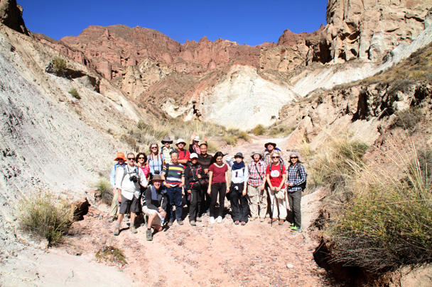 Team photo with local friend - Zhangye Danxia Landform, Gansu Province, 2014/10