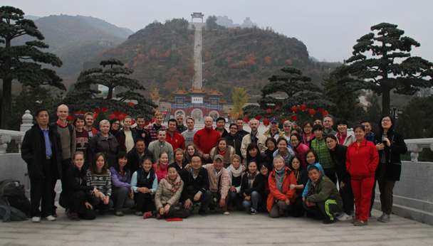The Swedish Embassy team at Yajishan - Yajishan Taoist Temples hike, 2014/10
