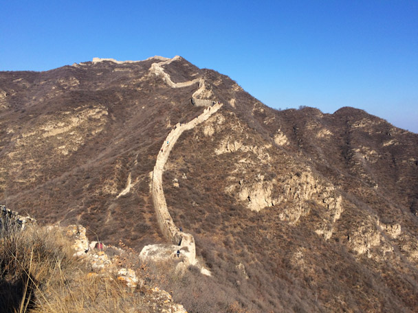 It's a big, steep climb up to the top here - 20141108-Zhenbiancheng