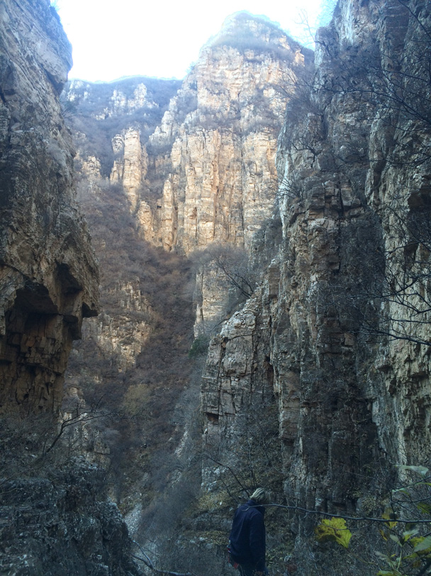 We finished the hike by walking out down a scenic canyon - Cypress Wells Canyon hike, 2014/11/09