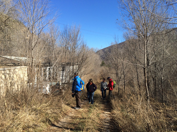 The road took us into an abandoned village - Cypress Wells Canyon hike, 2014/11/09