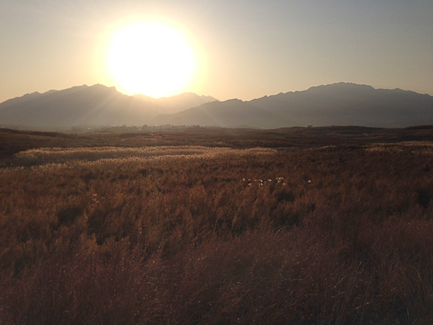 Bonus: a nice sunset before heading back to Beijing - Miyun Reservoir Birdwatching Overnighter, 2014/11