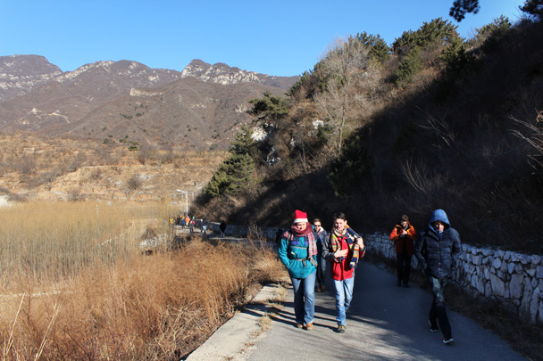 This road took us further into the hills, where we'd find the trail to the Great Wall - Great Wall Christmas 2014 - Jiankou to Mutianyu
