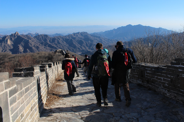 We hiked on - Great Wall Christmas 2014 - Jiankou to Mutianyu