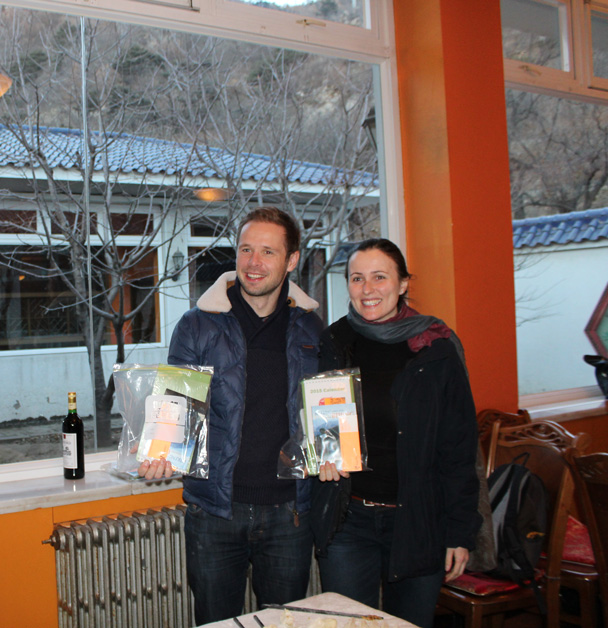 The winners in the 'Most Dumplings' category - Great Wall Christmas 2014 - Jiankou to Mutianyu