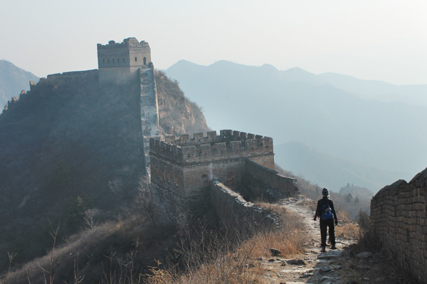 The trail took us further along the Great Wall to finish at Jinshanling - Great Wall Christmas 2014 - Gubeikou Great Wall to Jinshanling Great Wall