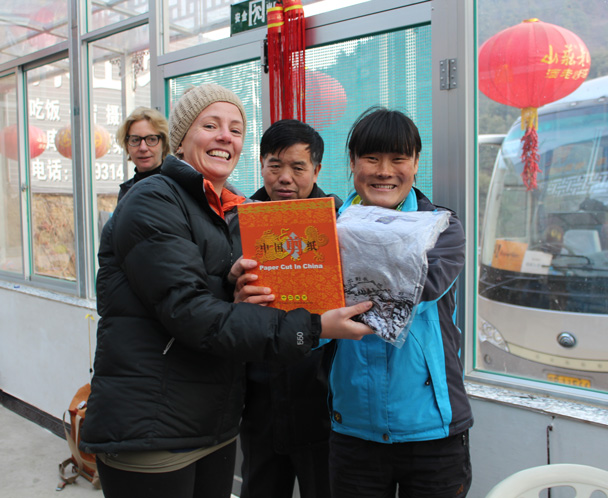 The winner in the 'Most Traditional Dumpling' category - Great Wall Christmas 2014 - Gubeikou Great Wall to Jinshanling Great Wall