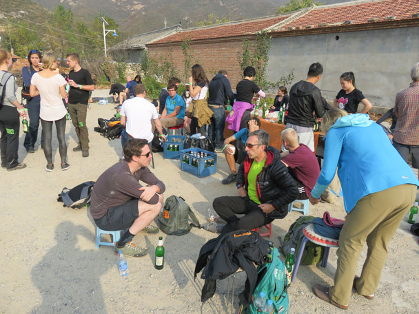 Beer and snacks in the village square - Hike Fest 2015