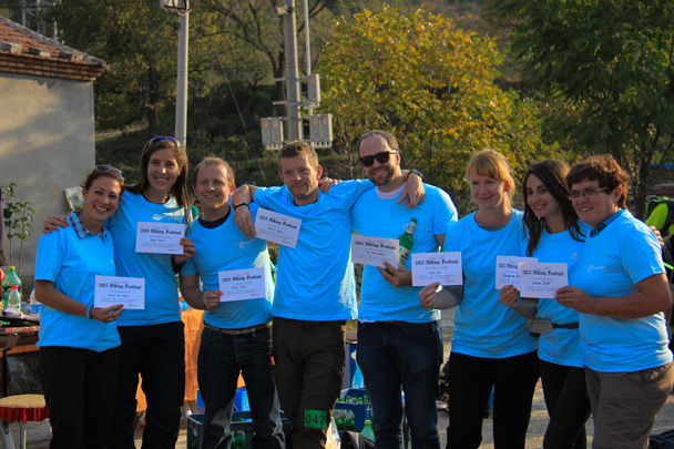 The BMW team in their hike festival t-shirts - Hike Fest 2015