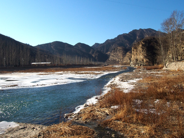 Beautiful views of the country side from Baihewan 'White River' Park - White River ice hike, 2015/01/27
