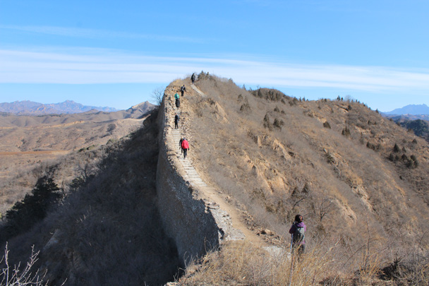 2 Today our hike took us along the Great Wall on the east side of the river - Gubeikou Great Wall hike, 2015/02/08