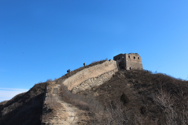 8 One of the highest towers on the hike - Gubeikou Great Wall hike, 2015/02/08
