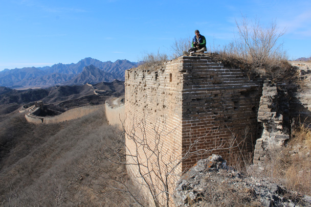 12 The strong foundation of an old Great Wall tower - Gubeikou Great Wall hike, 2015/02/08