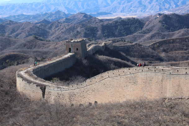 13 Walking back - Gubeikou Great Wall hike, 2015/02/08