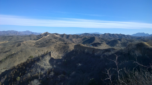 14 Blue sky over the Great Wall - Gubeikou Great Wall hike, 2015/02/08