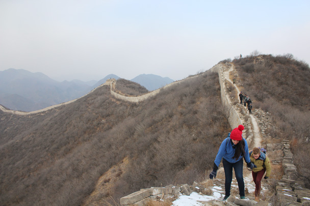 We continued along the wall, heading towards the General's Tower - Middle Route of Switchback Great Wall, 2015/02/21