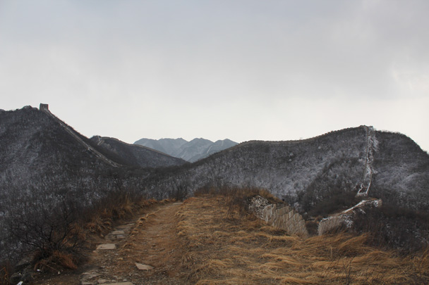 The General's Tower can be see at the top left of the photo - Middle Route of Switchback Great Wall, 2015/02/21