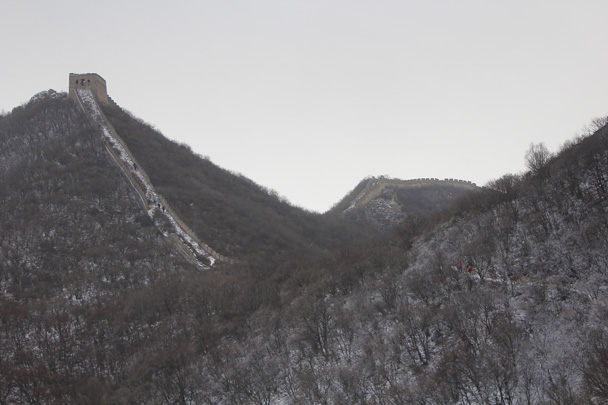 The General's Tower is the highest point of this part of the wall - Middle Route of Switchback Great Wall, 2015/02/21