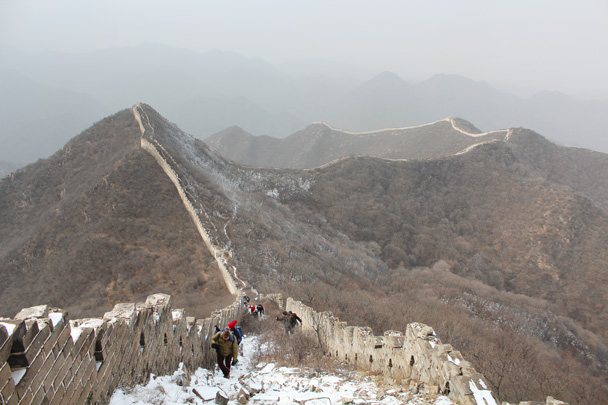 The view back the way we came - Middle Route of Switchback Great Wall, 2015/02/21
