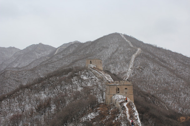 The two last towers on our trail - Middle Route of Switchback Great Wall, 2015/02/21