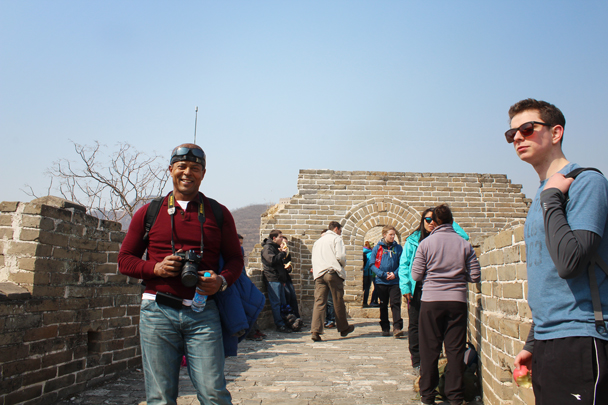 Our hike took us up on to a restored section of Great Wall - Longquanyu Great Wall and the Little West Lake, 2015/04