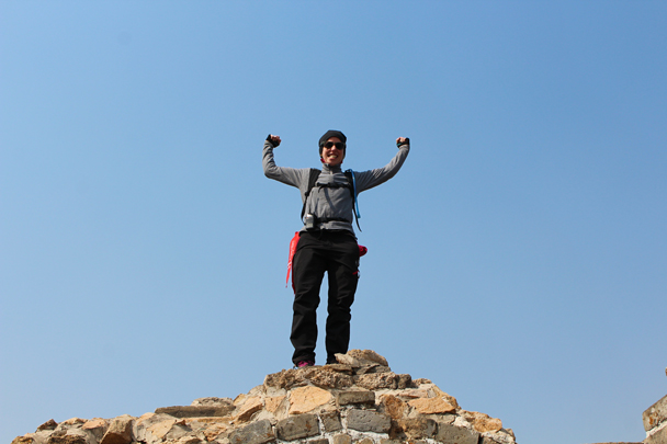 Louise up on top - Longquanyu Great Wall and the Little West Lake, 2015/04