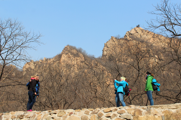 A few photos before the beginning of the big climb up the other side - Longquanyu Great Wall and the Little West Lake, 2015/04