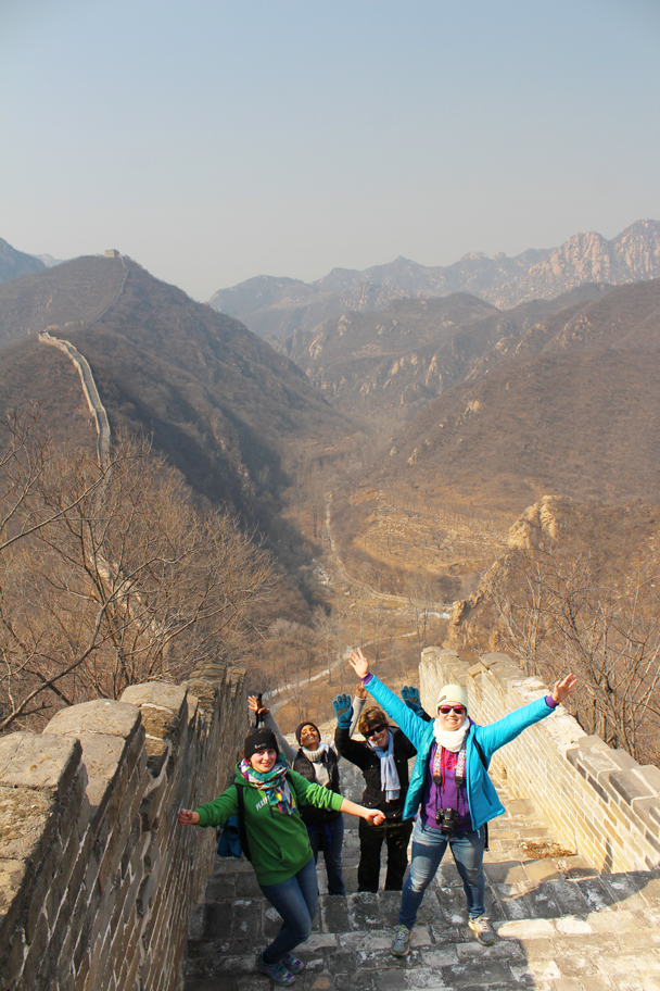 We finally got to the top of the steep section - Longquanyu Great Wall and the Little West Lake, 2015/04