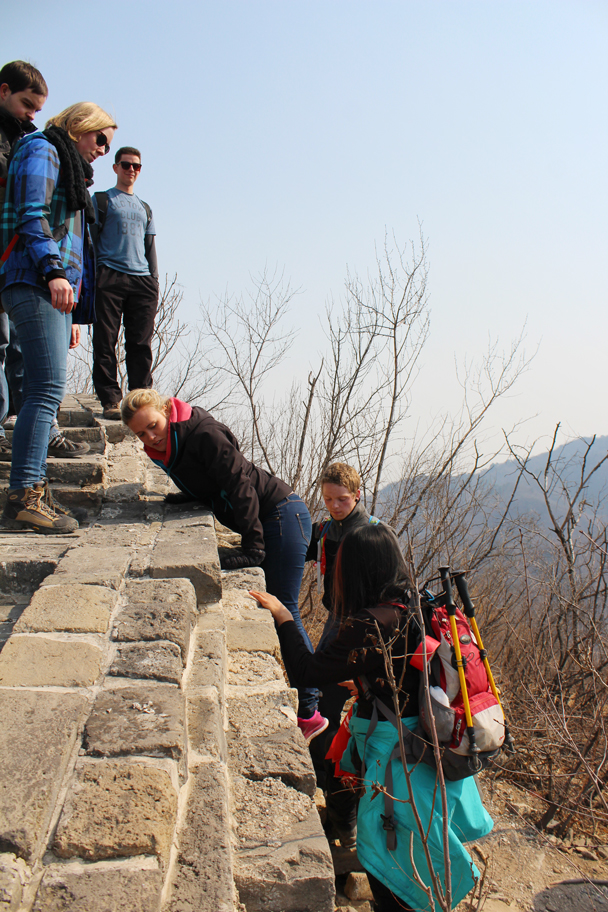 Bit tricky here - Longquanyu Great Wall and the Little West Lake, 2015/04