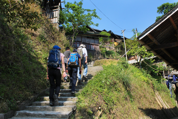 Starting a hike in a small village - Miao and Dong culture in Guizhou, 2015/04