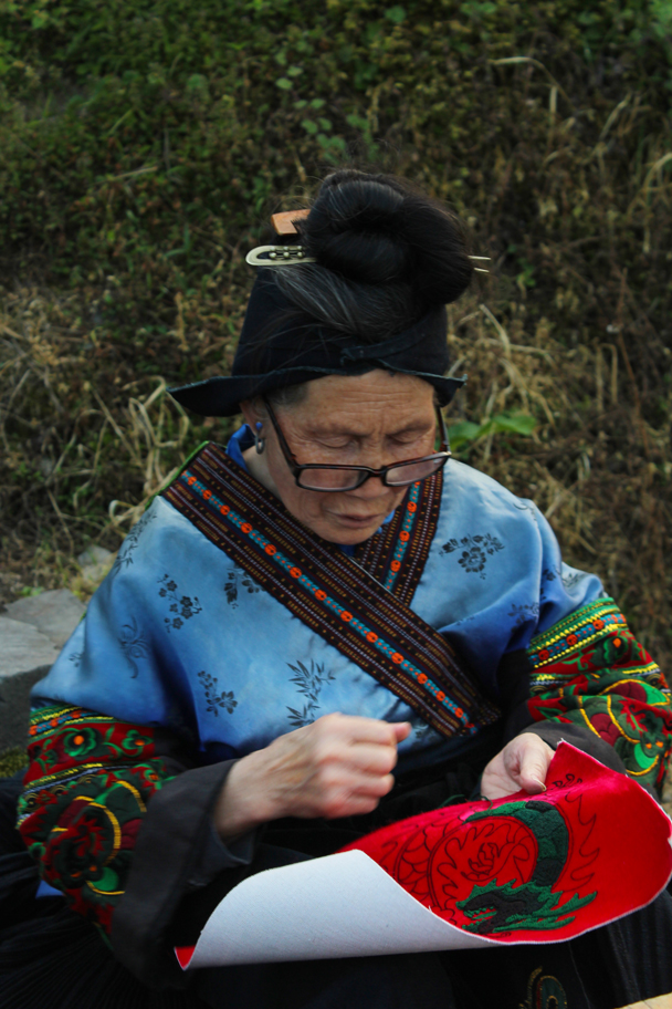 Traditional clothing and embroidery - Miao and Dong culture in Guizhou, 2015/04
