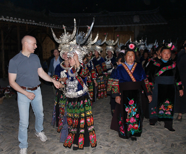 At the end of the performance we were joined in for a dance - Miao and Dong culture in Guizhou, 2015/04
