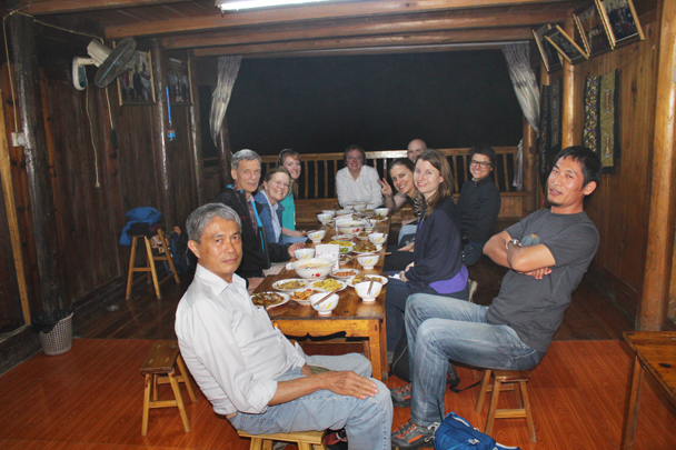 "Dinner at a village of the ""Long Skirt"" Miao village - Miao and Dong culture in Guizhou, 2015/04"