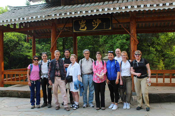 Group photo at Basha Village - Miao and Dong culture in Guizhou, 2015/04