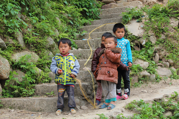 Local kids' toy: dry grass wound into a rope - Miao and Dong culture in Guizhou, 2015/04