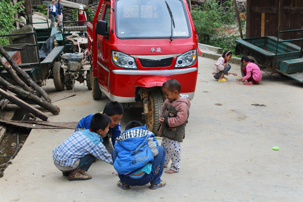Children playing in the village - Miao and Dong culture in Guizhou, 2015/04