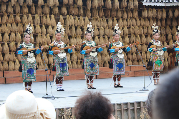 We saw a performance of traditional music at Zhaoxing Village - Miao and Dong culture in Guizhou, 2015/04