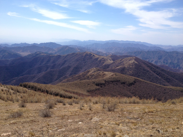 A view of the ridgeline we followed up to the top - Dahaituo Mountain hike, 2015/04/25